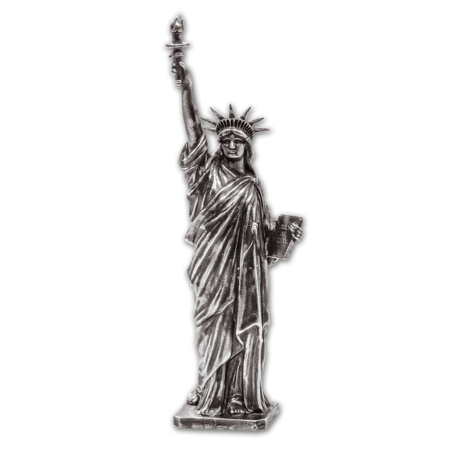 5 oz Silver Antique Statue - American Treasures (Lady Liberty)